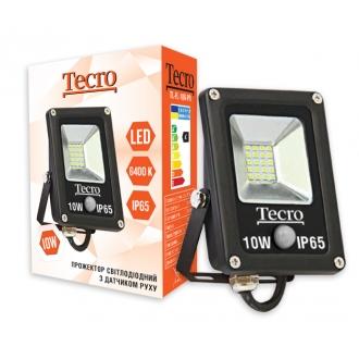Светодиодный  прожектор  с датчиком движения  Tecro TL-FL-10B-PR